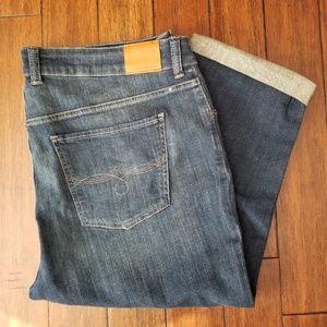 Lucky Brand Emma Crop Cuff Blue Jeans 18W